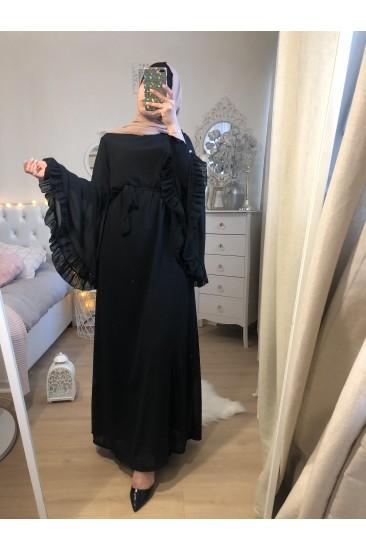 FRILLED BLACK DRESS
