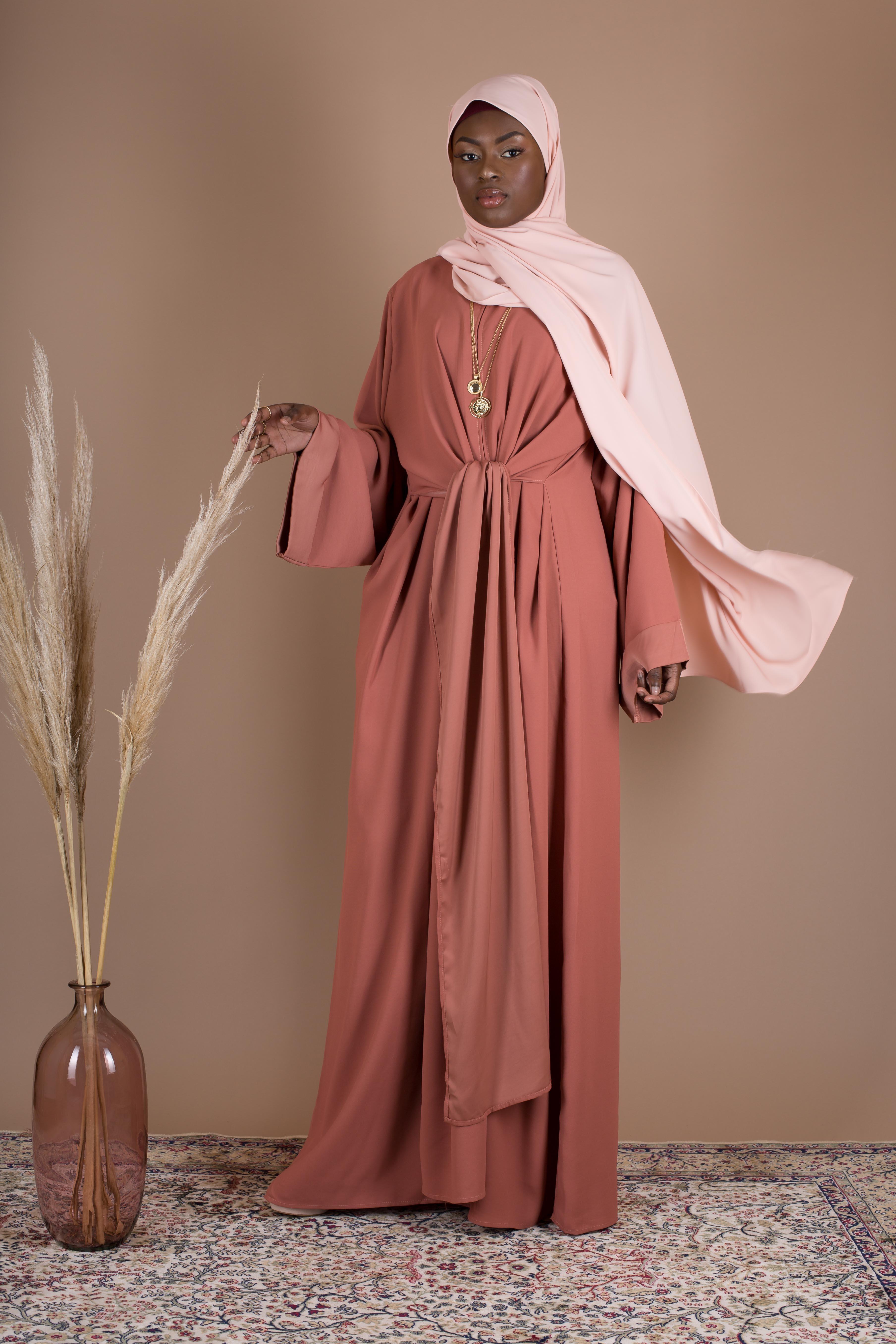 Abaya wrap abricot