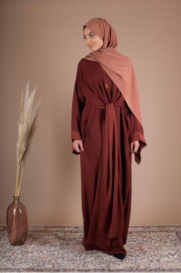 Abaya wrap terraccota