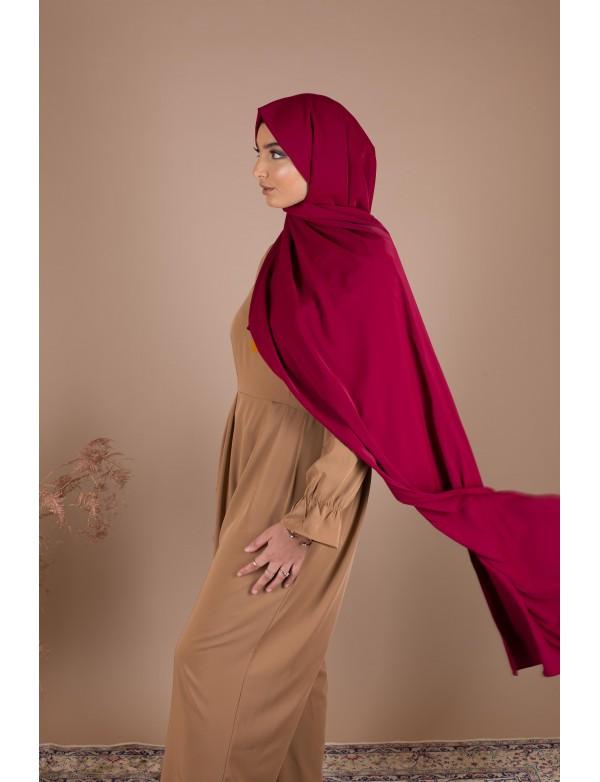 Maxi hijab bordeaux