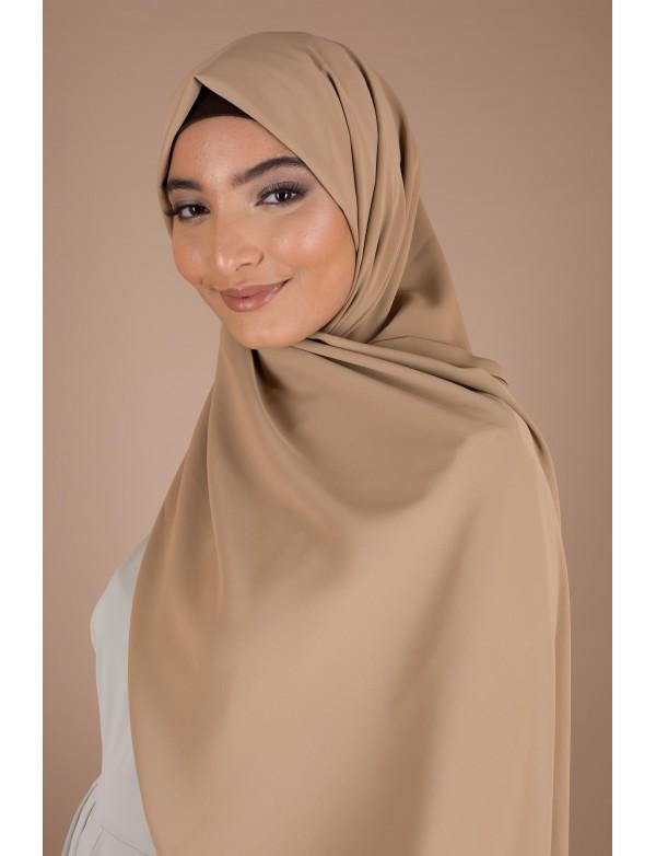 Maxi hijab camel