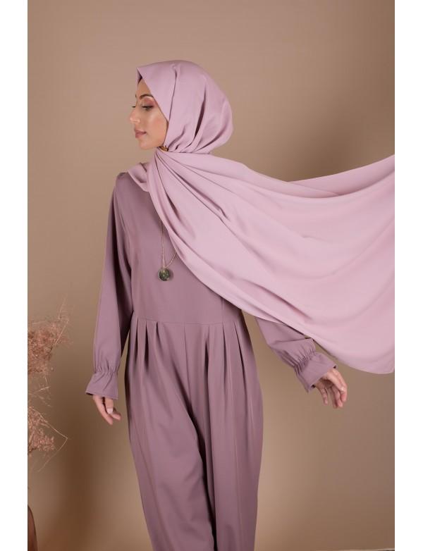 Maxi hijab guimauve