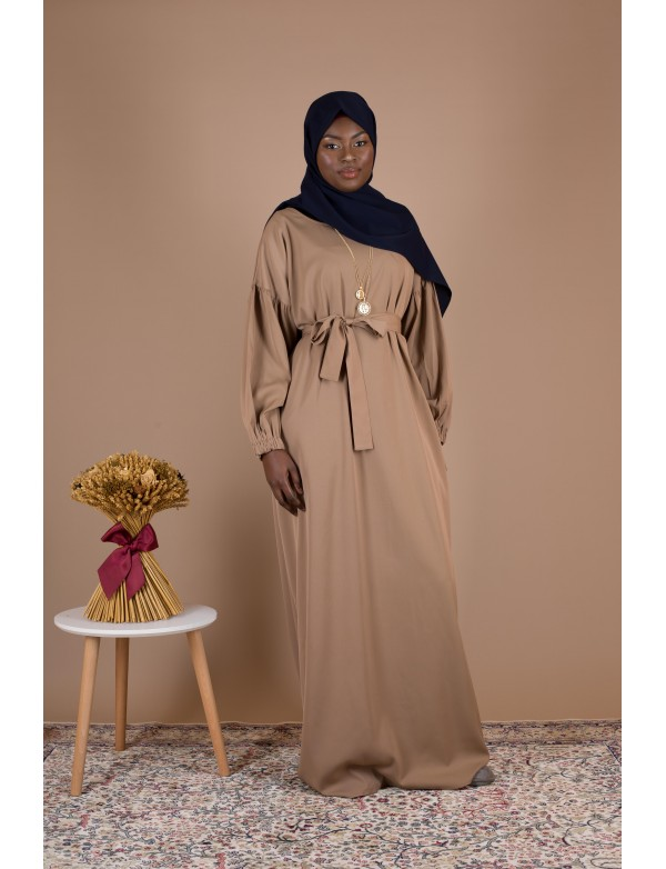 Robe simple amelia camel