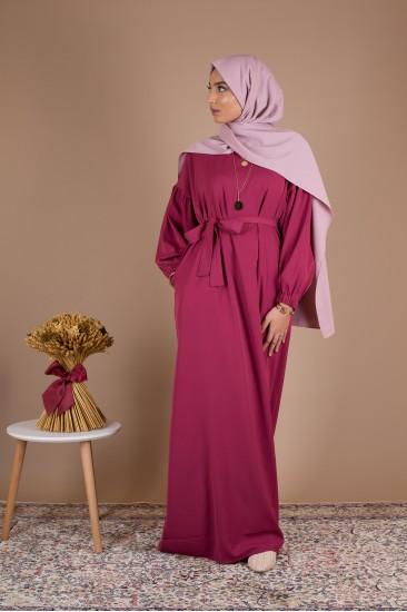 Robe simple amelia framboise