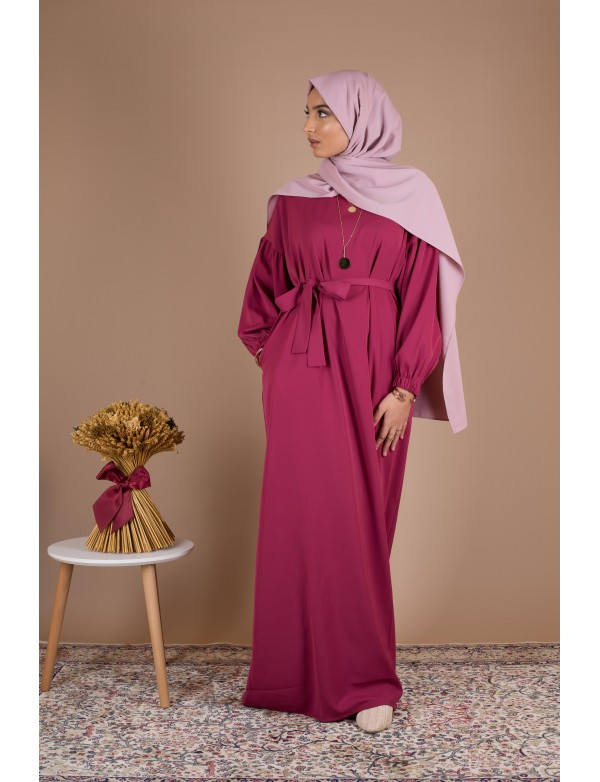 Robe simple amelia framboise