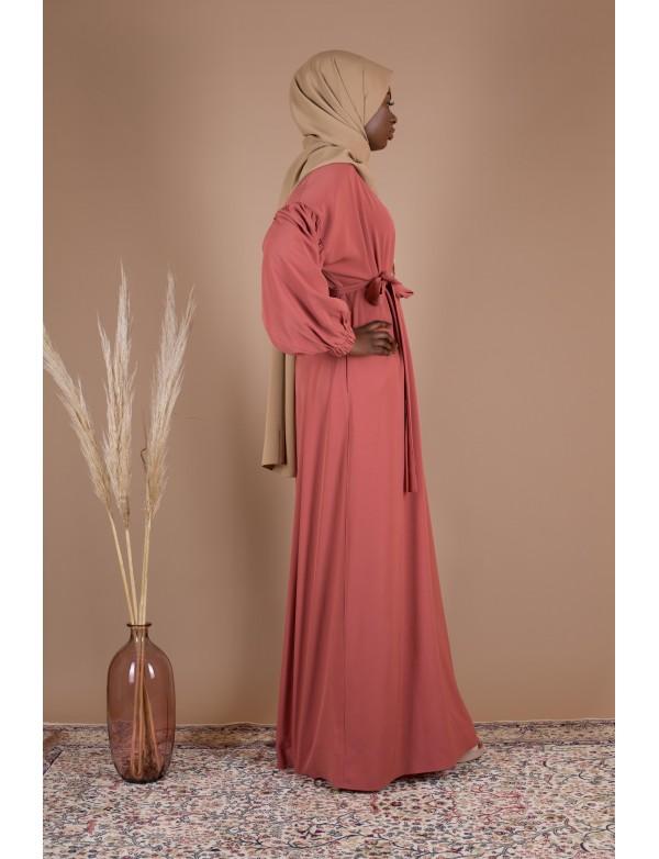 Robe simple amelia abricot