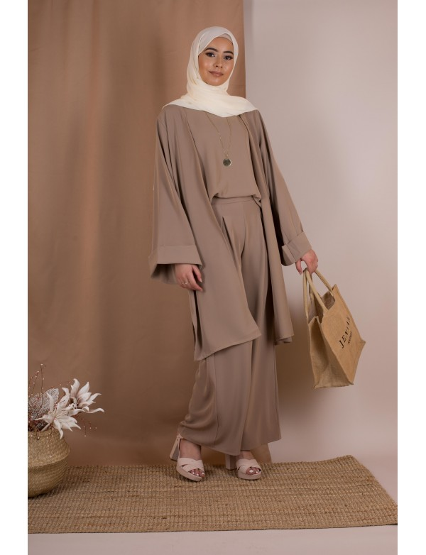 Ensemble travel taupe