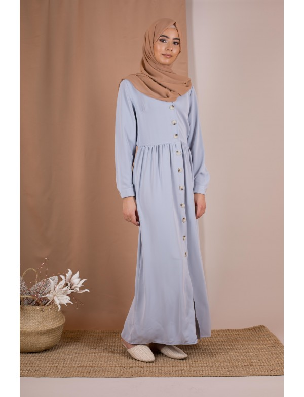 Robe chemise grise