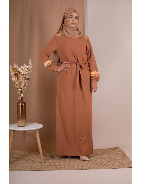 Robe longue gypsy camel