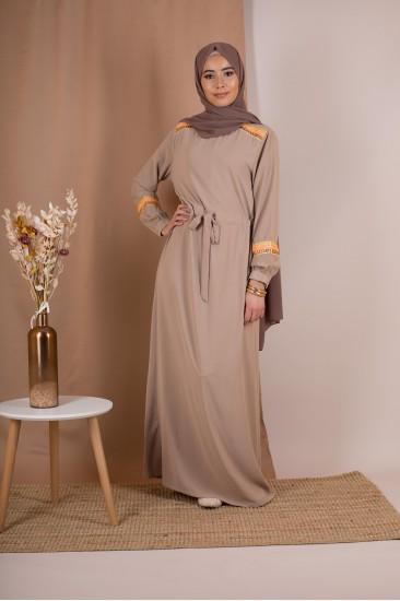 Robe longue gypsy taupe