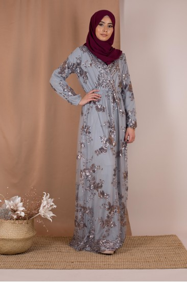 Robe sequin gris