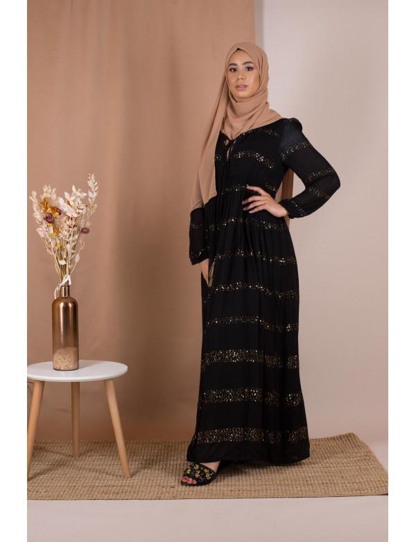 Robe longue gapsy noir
