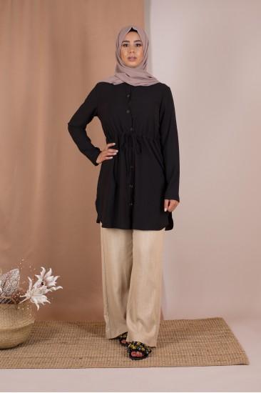 Blouse chemise noir