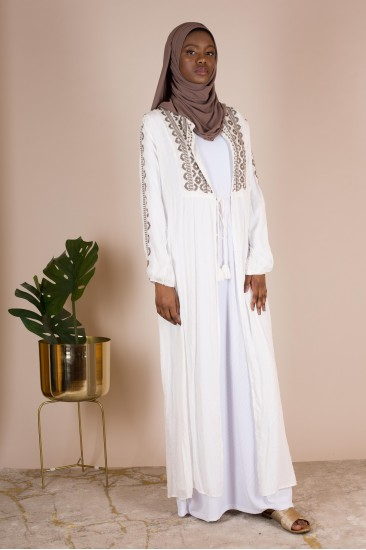 Kimono emna blanc