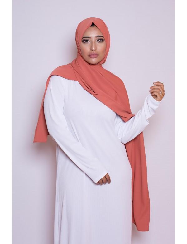 Maxi hijab corail