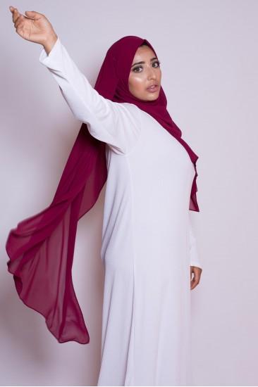 Hijab mousseline cranberry