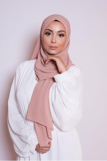 Hijab mousseline poudre