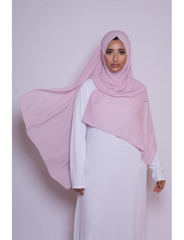 Hijab mousseline lila