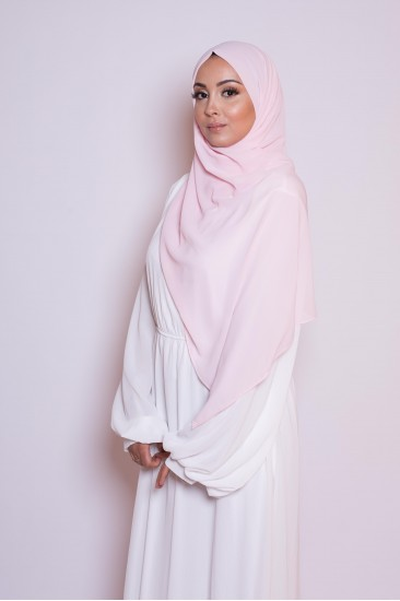 Hijab mousseline taupe