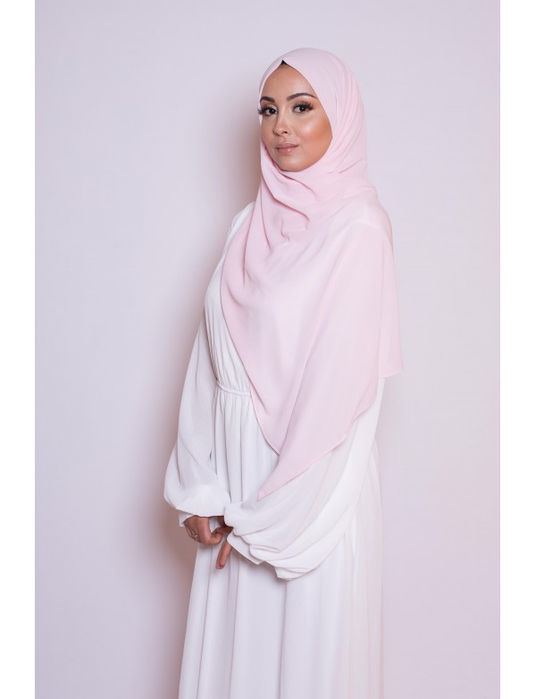 Hijab mousseline taupe