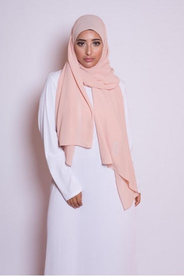 Hijab mousseline peach