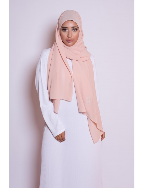 Hijab mousseline peach