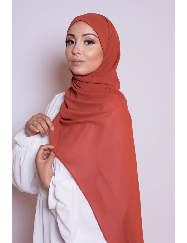 Hijab mousseline spice