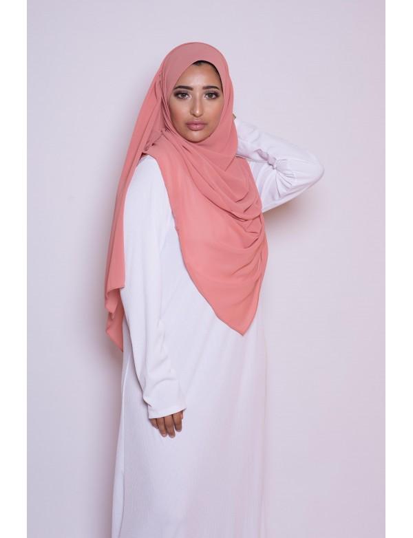 Hijab mousseline abricot