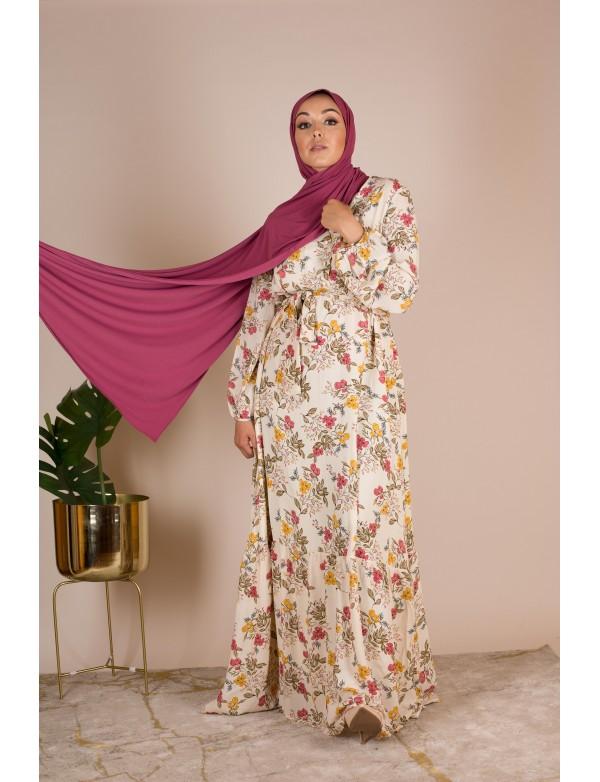Robe longue fleuri