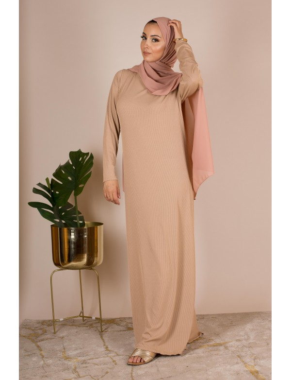 Robe basic camel