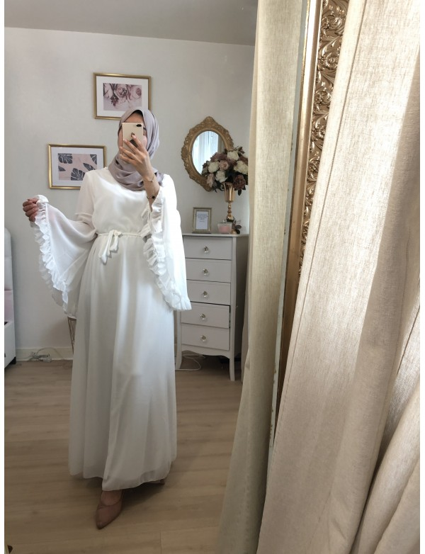 Robe volant blanc