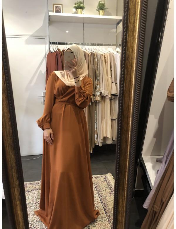 Robe cache-coeur camel