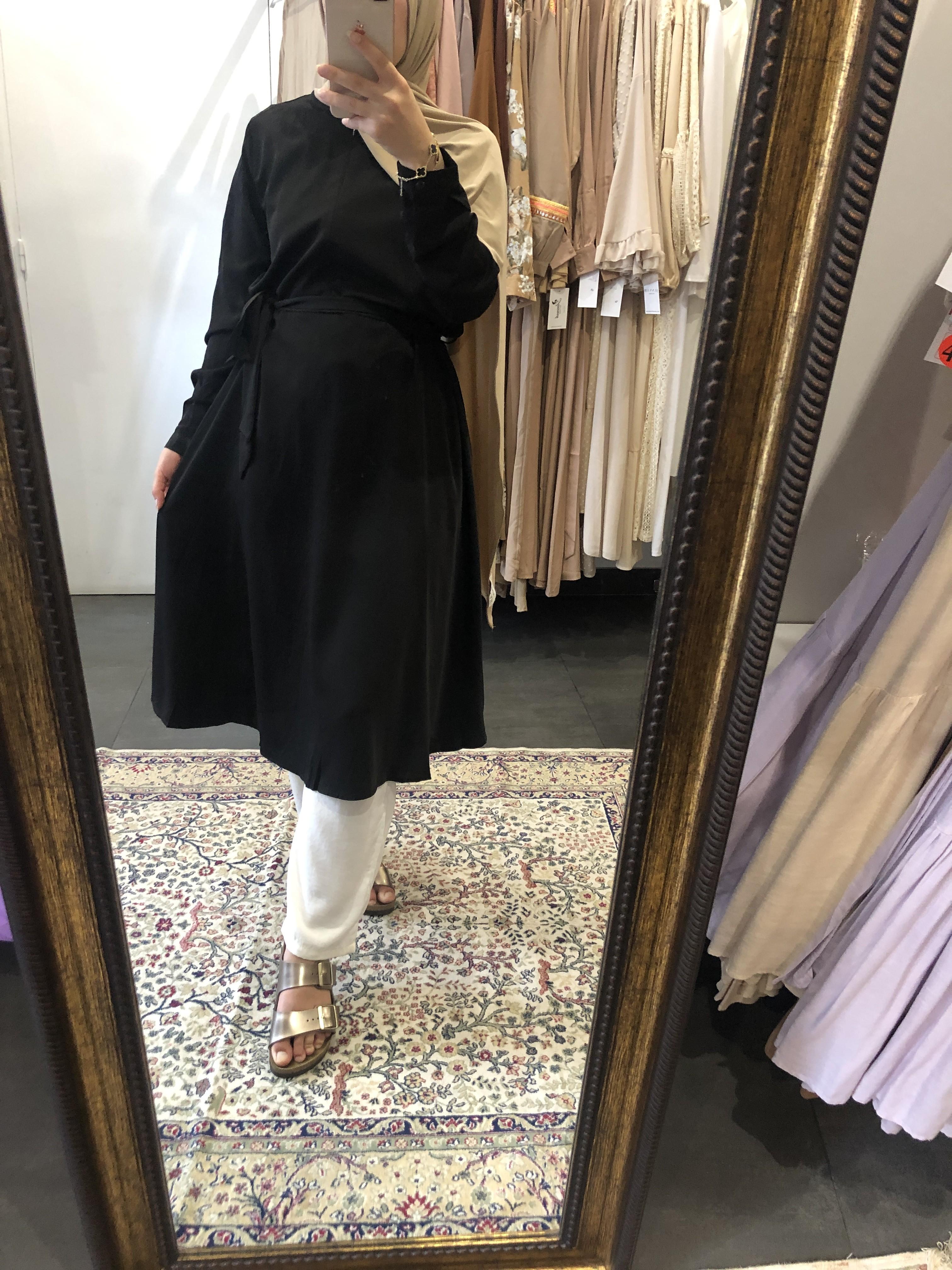 Tunique évasé zip noir