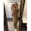 Robe basic coton rouille