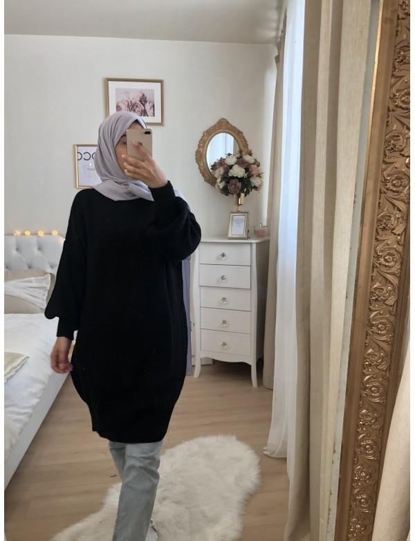 Tunique pull noir