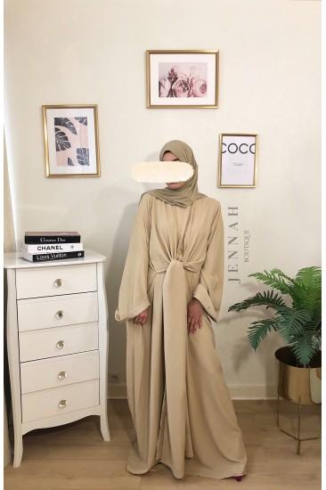 Abaya wrap nude