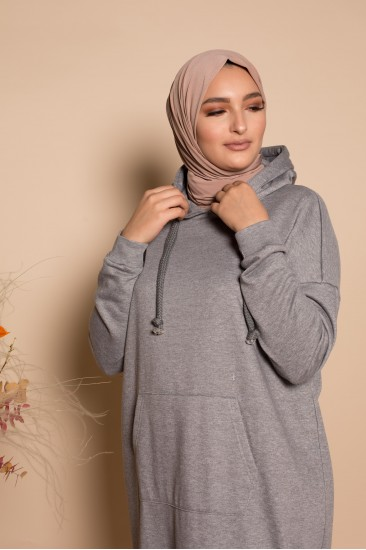 Robe sweat caouche