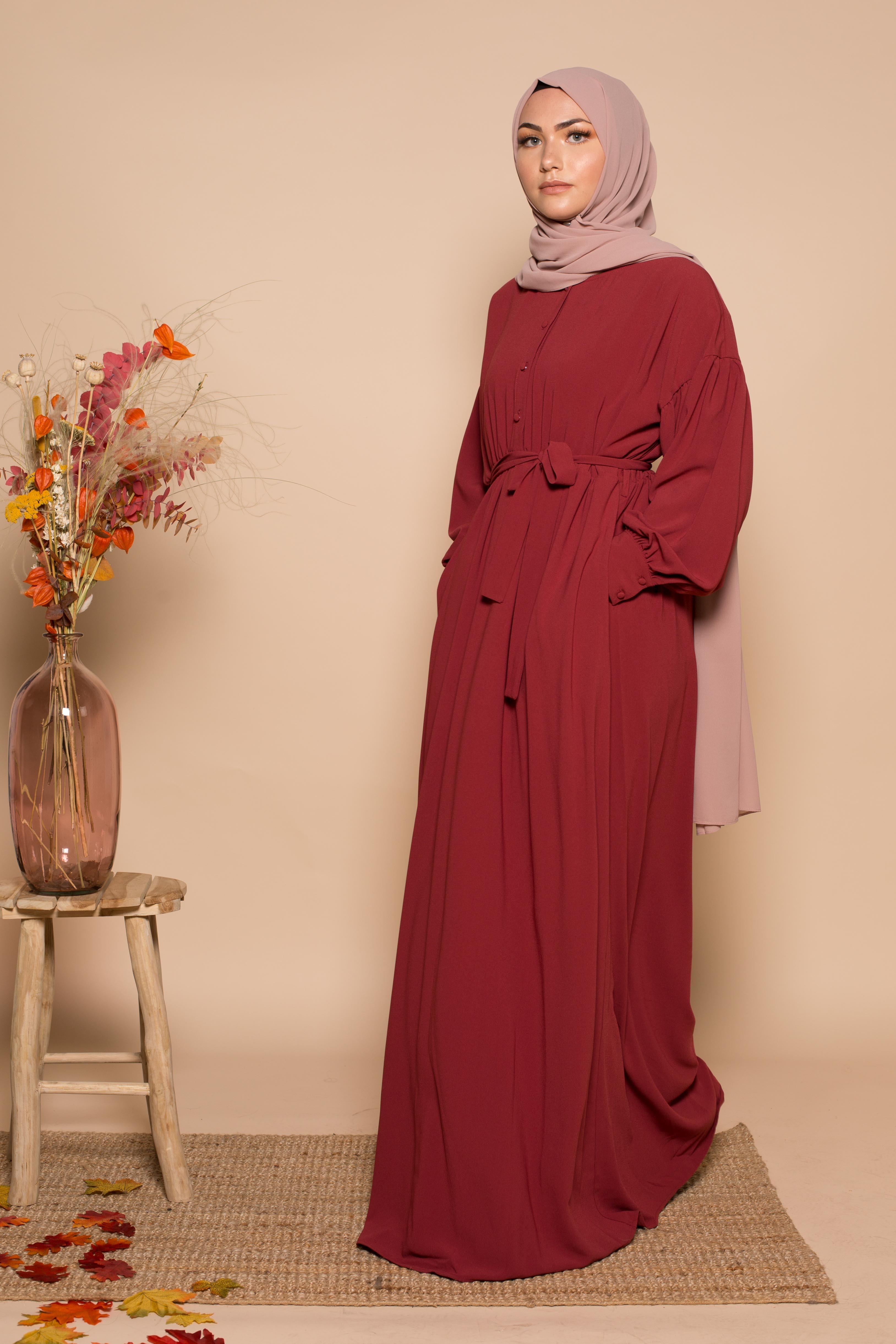 Robe aya bordeaux