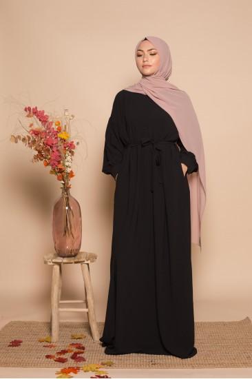 Robe longue aya noir