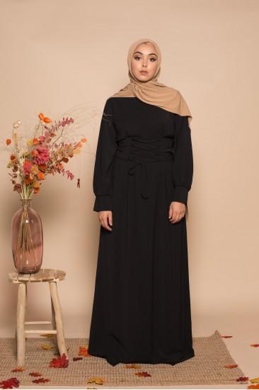 Abaya corset noir