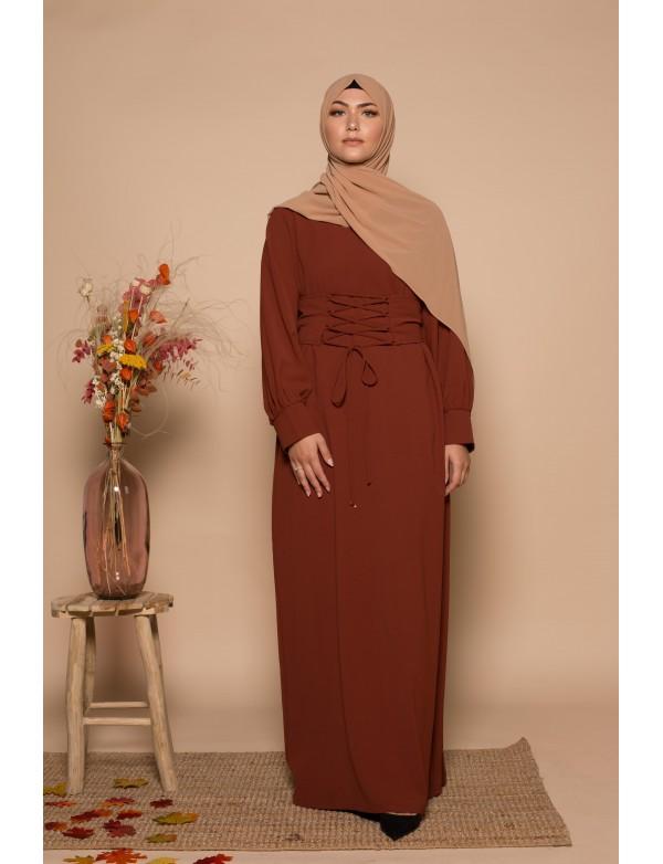 Abaya corset amber