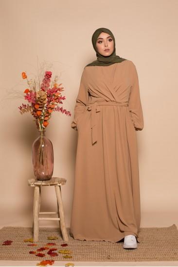 Robe maya camel