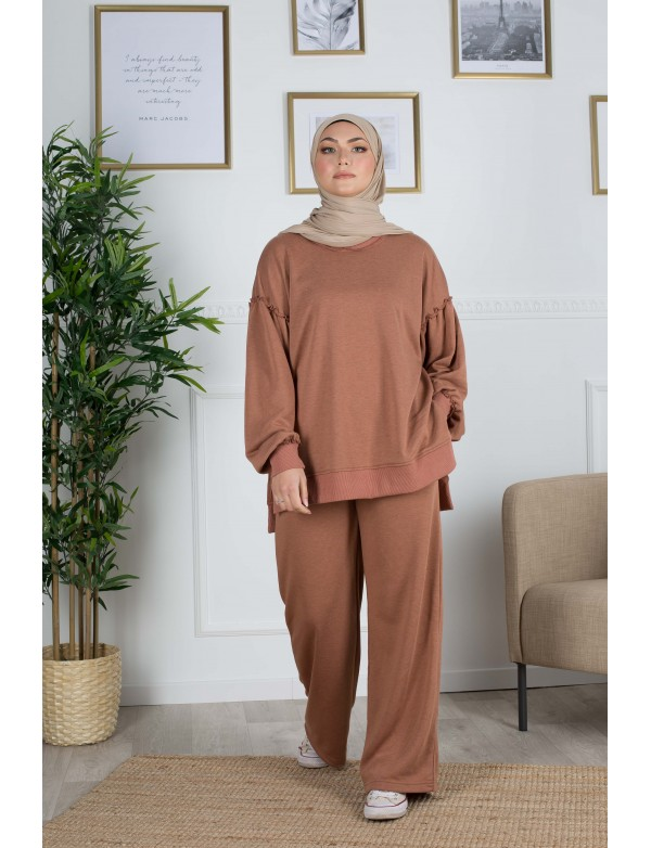 Ensemble sweat terracotta