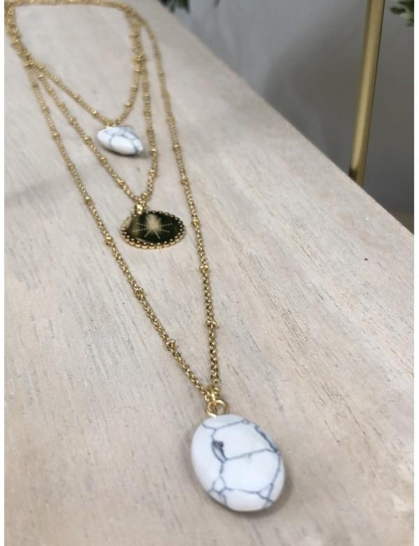 Collier sautoir marble