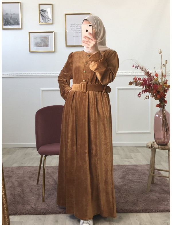 Robe candy camel