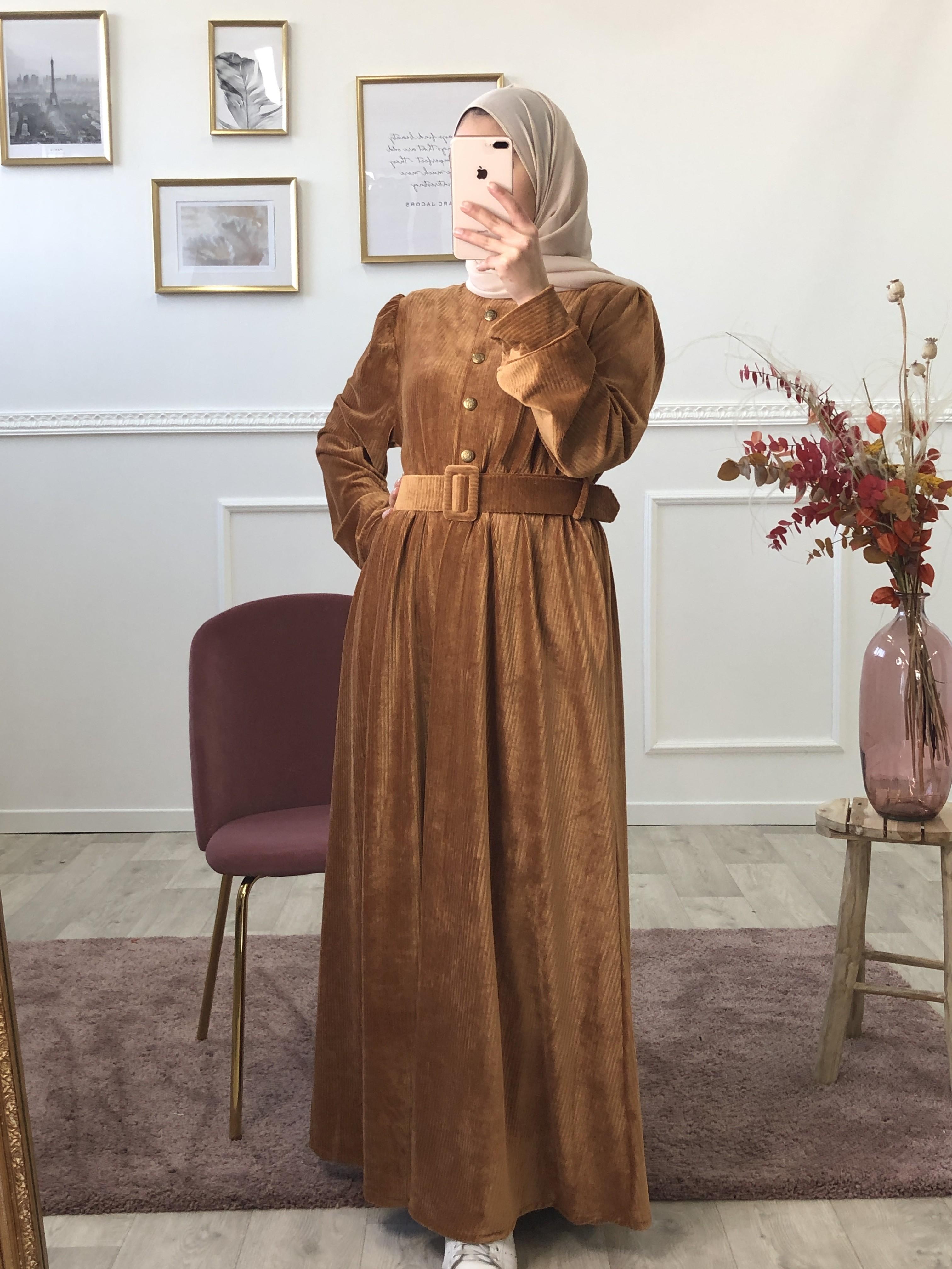 Robe candy camel