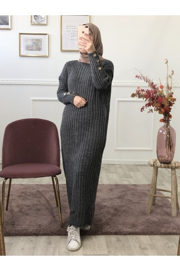 Robe pull leina gris
