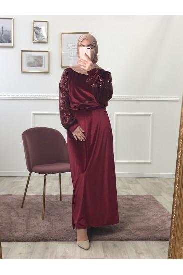 Robe lady velours