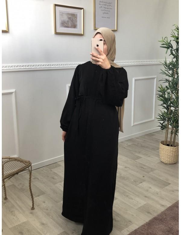 Robe longue esme noir