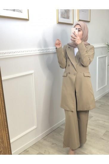 Tailleur Jennah beige